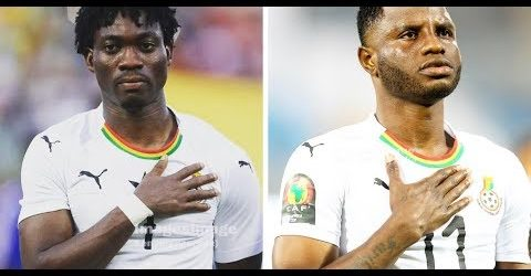 Black Stars Players Christian Atsu and Mubarak Wakaso Tease each other