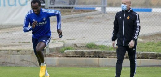 Raphael Dwamena returns to Real Zaragoza training after recovering from heart problem