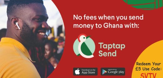 Send Money To Ghana from Europe/UK Mobile to Mobile direct No Transfer Fee – Use the promo code SVTV