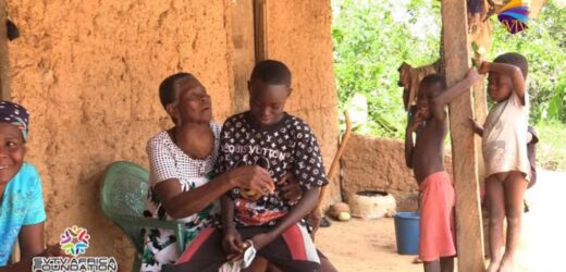 14 Year Old Emmanuel Who Sleeps In Trotro Visits Family With SVTV Africa Foundation After A Year