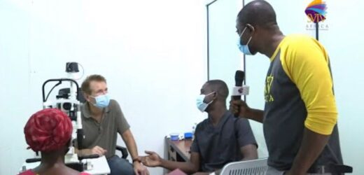 Blind Woman Travels From Saakye For Treatment After 25 Years, Receives GHs2,000 Through SVTV Africa Foundation