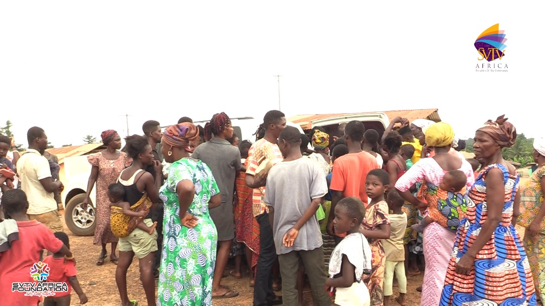 Central Region; Donation made to the less privileged in some villages by SVTV Africa Foundation